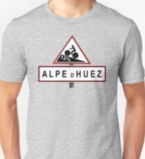 Alpe d'Huez Straßenschild Radfahren Slim Fit T-Shirt