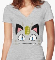 Meowth Women's Fitted V-Neck T-Shirt