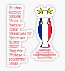 France 2000 Euro Winners Sticker