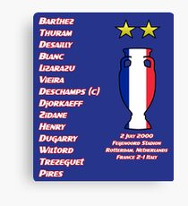 France 2000 Euro Winners Canvas Print