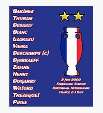 France 2000 Euro Winners Photographic Print