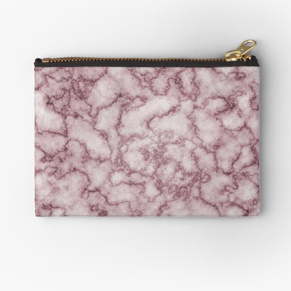 Marble red gold pattern Zipper Pouch