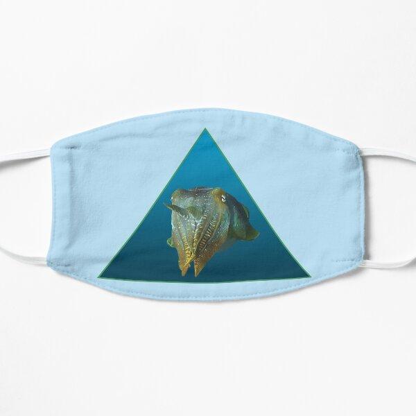 Tintenfisch | Farbenspiel auf blauem Hintergrund |  Flache Maske