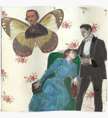 Poe Butterfly(please read description of this work) Poster