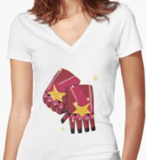 Garnet's Gauntlets Women's Fitted V-Neck T-Shirt