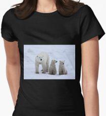 FAMILY PORTRAIT #2 - Polar Bears, Churchill, Canada Women's Fitted T-Shirt
