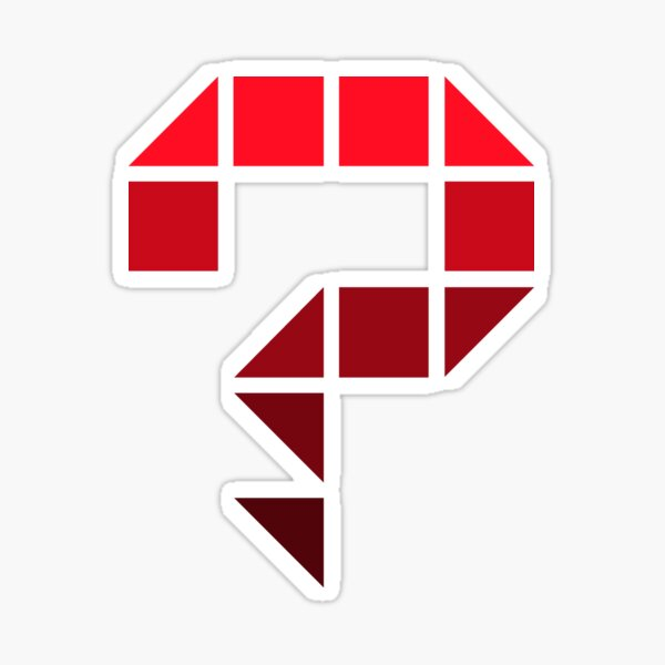 One big question mark with a pixel style (red) Sticker