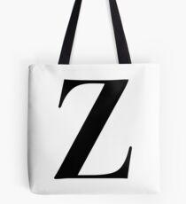 Z - Black  Tote Bag