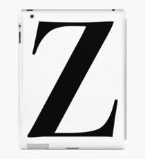 Z - Black  iPad Case/Skin