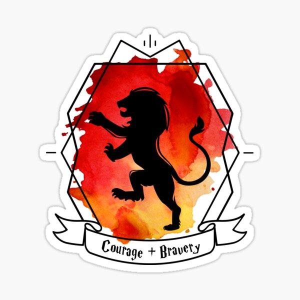 Strong Griffin Lion Emblem Gryffin Courage Pride Brave Sticker