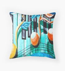 Musical Notes in Deep Ellum Throw Pillow