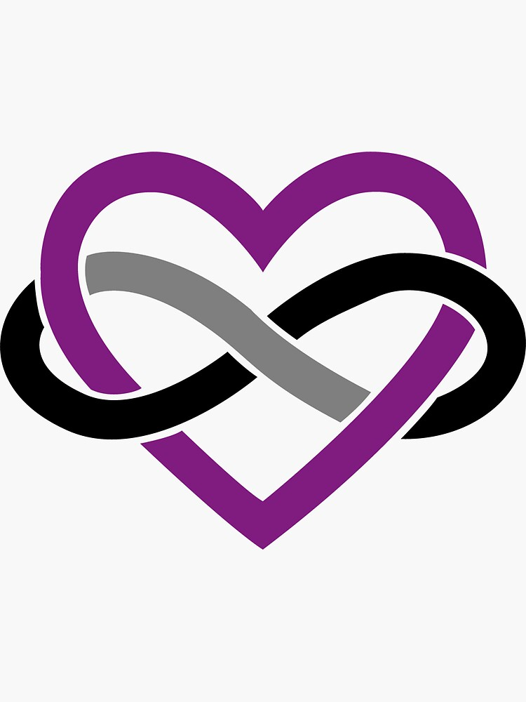 Asexual Polyamory Infinity Heart (White) by polyphiliashop