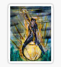 Nikola Tesla Riding The Light Bulb Sticker