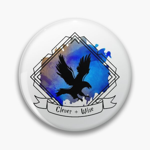 Eagle Raven Emblem Smart Clever Wise T-shirt Sticker phone case Pin