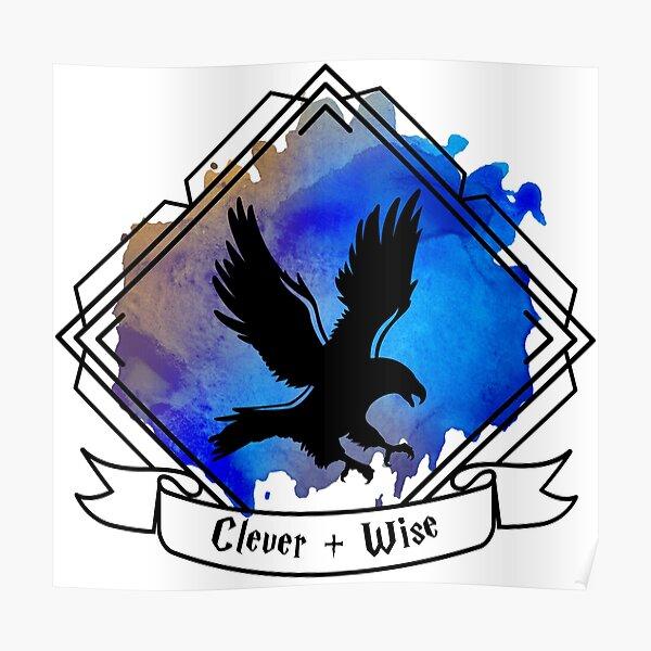 Eagle Raven Emblem Smart Clever Wise T-shirt Sticker phone case Poster