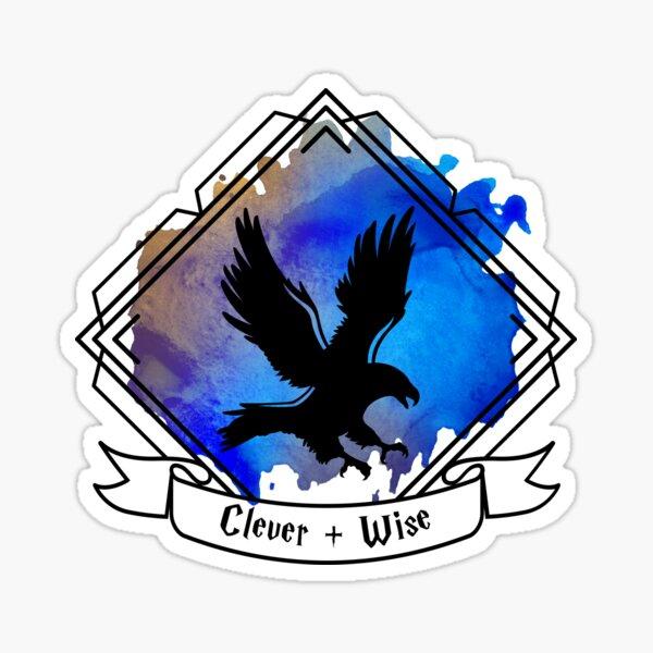 Eagle Raven Emblem Smart Clever Wise T-shirt Sticker phone case Sticker