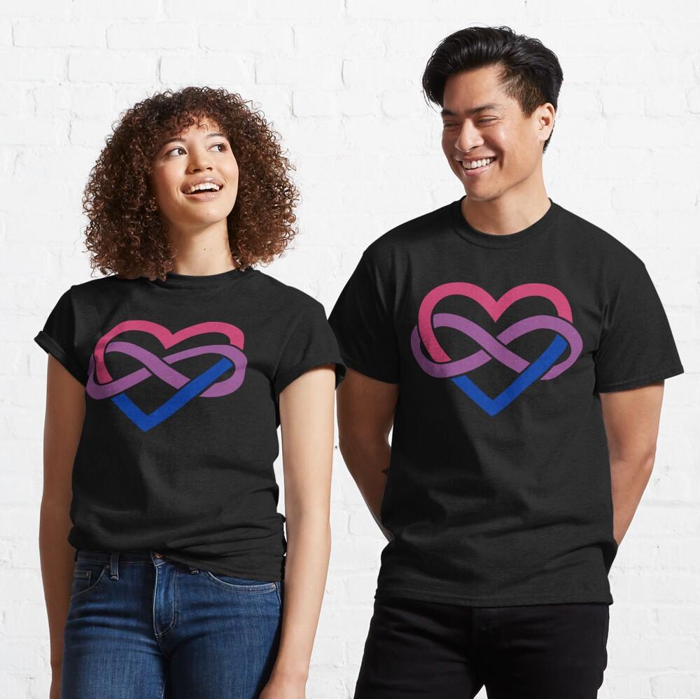 Bisexual Polyamory Infinity Heart (Black) Classic T-Shirt