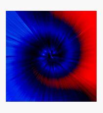 TIE DYE (Blues & Reds)-(8400 x 8400 px) Photographic Print