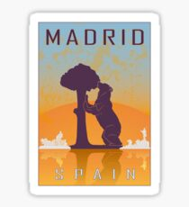 Madrid vintage poster Sticker
