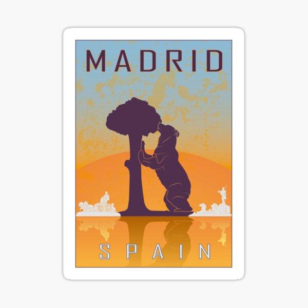 Cartel vintage de Madrid Pegatina