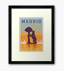 Madrid vintage poster Framed Print