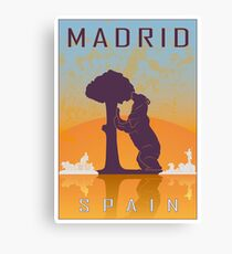 Madrid vintage poster Canvas Print