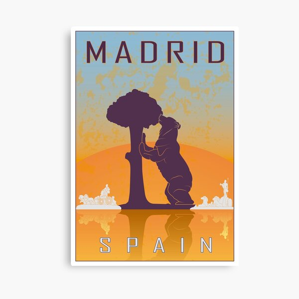 Cartel vintage de Madrid Lienzo