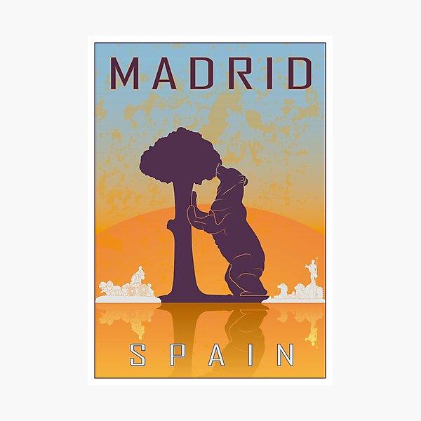 Madrid vintage poster Photographic Print