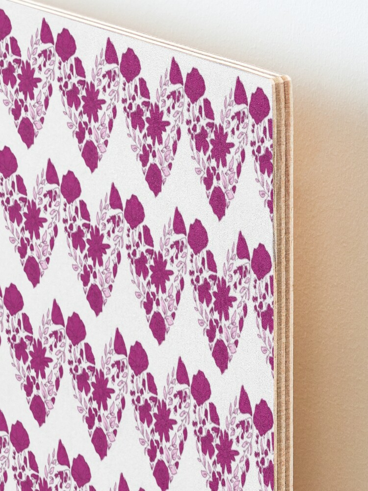 Alternate view of Pink Hearts Pattern Mounted Print