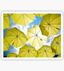 Yellow Umbrellas Sticker