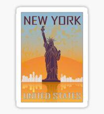 Pegatina Cartel vintage de Nueva York