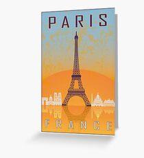 Paris vintage poster Greeting Card