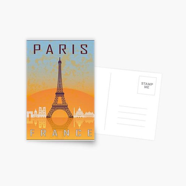 Paris vintage poster Postcard