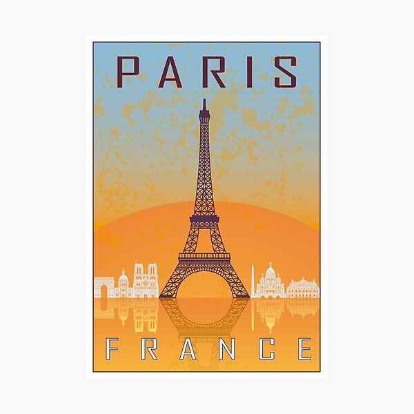 Paris vintage poster Photographic Print