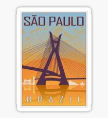 Sao Paulo Vintage Poster Sticker