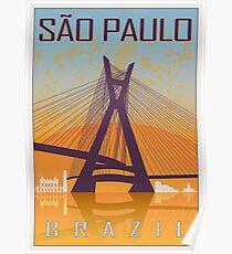 Sao Paulo vintage poster Poster