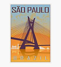 Sao Paulo vintage poster Photographic Print