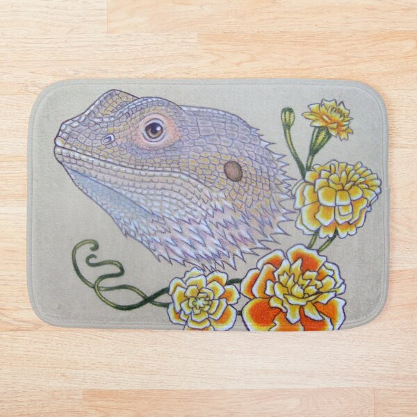 Bearded Dragon Flowers  Bath Mat