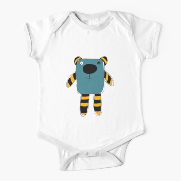 Loo, the little monster Short Sleeve Baby One-Piece
