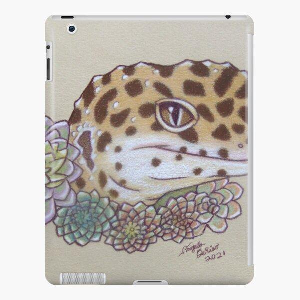Leopard Gecko Flowers iPad Snap Case