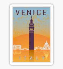 Venice vintage poster Sticker