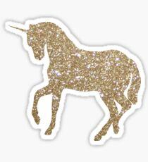 Pegatina Gold Glitter Unicornio