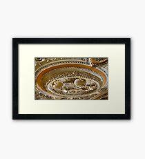 Astley Hall ceiling Framed Print