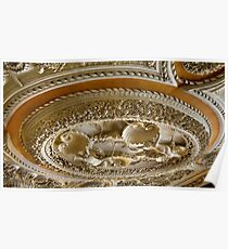 Astley Hall ceiling Poster