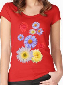 Colorful flowers like living Women's Fitted Scoop T-Shirt