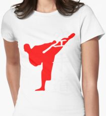 Karate Do Kanji (Red)  Womens Fitted T-Shirt