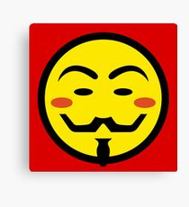 Anonymous Vendetta Smiley Canvas Print