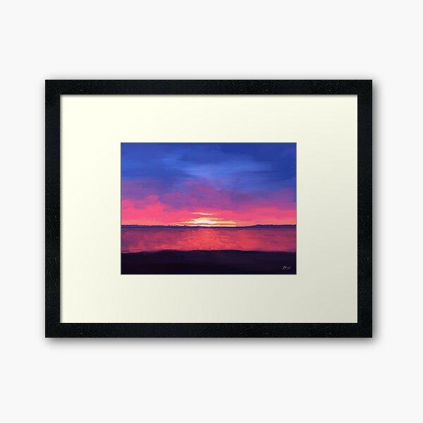 Beach Sunset View Framed Art Print