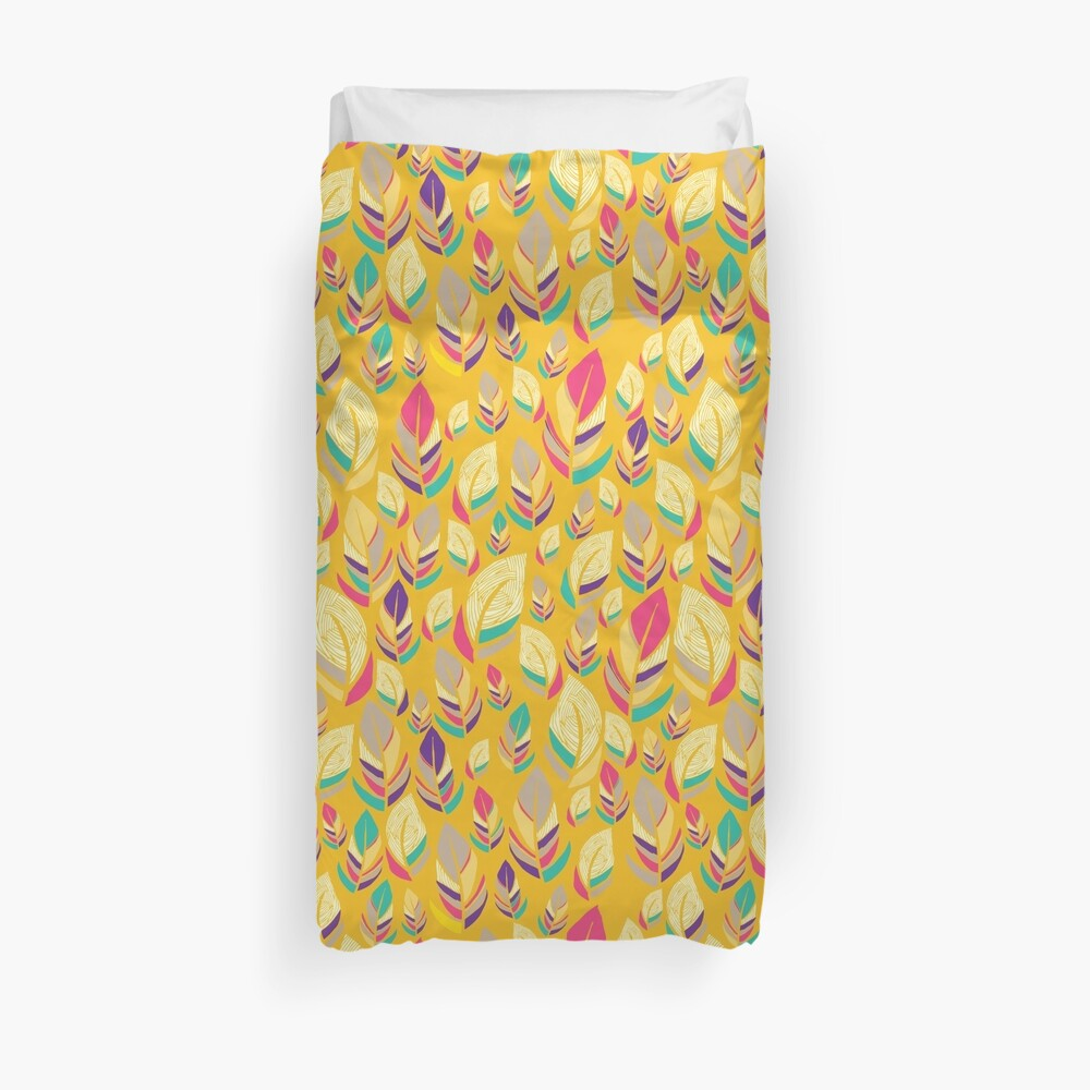 Dancing Feathers Duvet Cover
