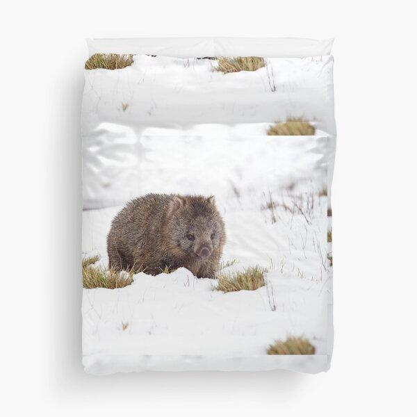 Winter Wombat Duvet Cover